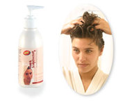 Sponge down your hair with Hair & Scalp Doctor - Antibacterial Shampoo